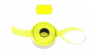 Cenové - značkovací etikety 25 x 16 Contact oblé žluté