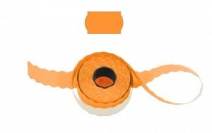 Cenové - značkovací etikety 25 x 16 Contact oblé oranžové
