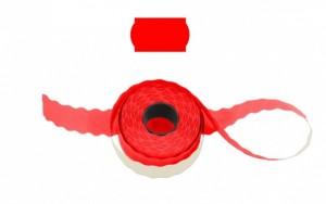 Cenové - značkovací etikety 25 x 16 Contact oblé červené