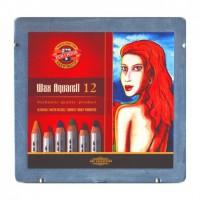 Akvarelové voskové pastelky - souprava 12 ks - 8282