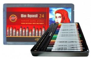 Akvarelové voskové pastelky - souprava 24 ks - 8284