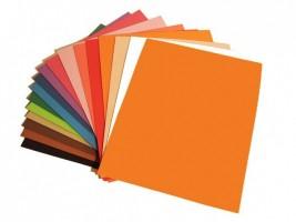 Pěnová guma - oranžová 20 x 30 cm