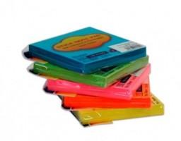 Samolepící bloček Neon 75 x 75 mm - fialový