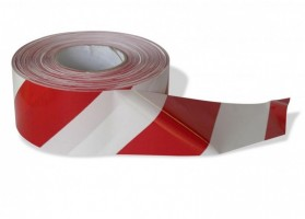 Výstražná páska červeno - bílá 200 m x 7 cm