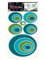 Pokojová dekorace modré elipsy 70 x 42 cm - 1061