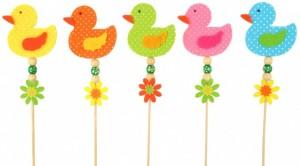 Velikonoční dekorace - zápich - kačenka z filcu - 8191