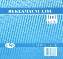 Reklamační list 2/3 A4 mSk 380